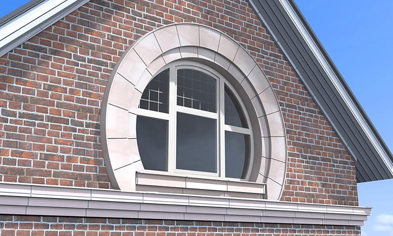 арочные окна в частном доме фото прямыми линиями